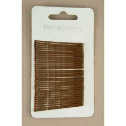 Kirby Hair Grips - 36 Brown 40mm Hair Grip wavy hairpin slides