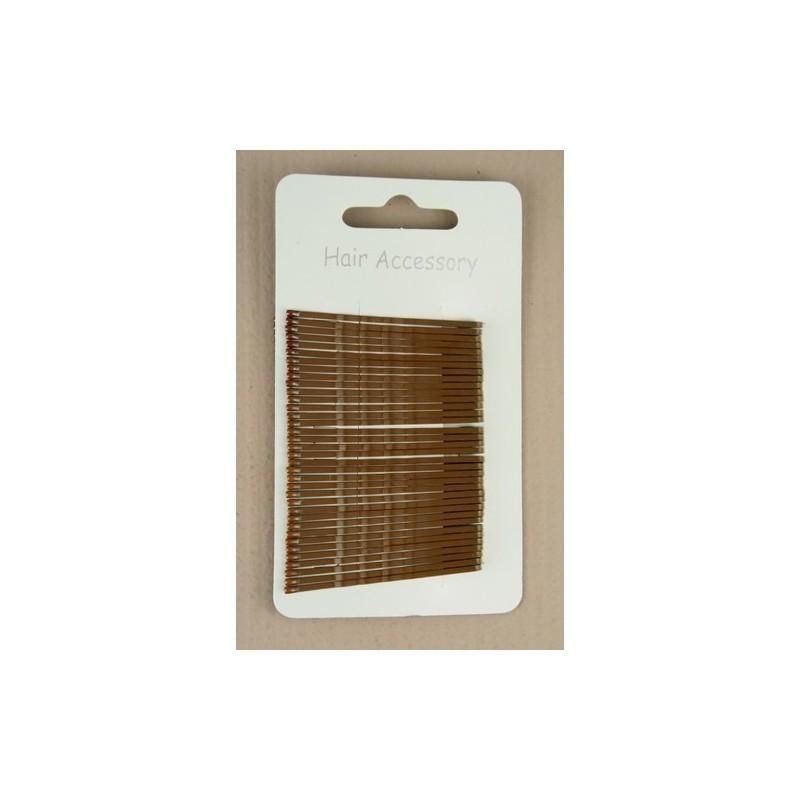 marrom kirby apertos de cabelo - embalagem de 36 x 40mm