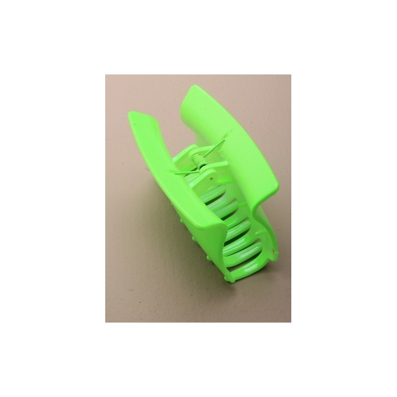 abrazadera del pelo - 8 cm de color neón en forma de cuña en la abrazadera de plástico de color amarillo / verde / rosa o naran
