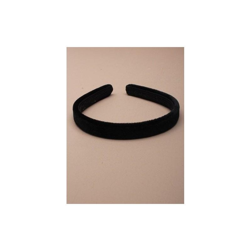 9mm Black Velvet Slim Headband School Headband Aliceband Hairband