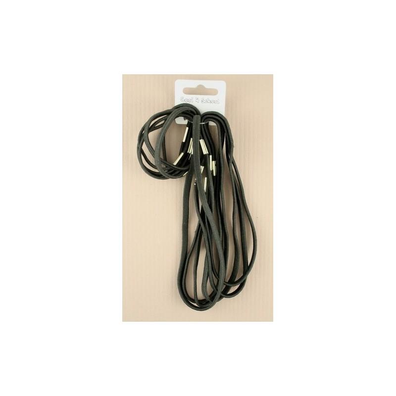 Hair Elastics - Set of 6 small and 6 large black elastics