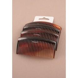Hair Combs - A pack of 4 dark tort 9cm hair combs