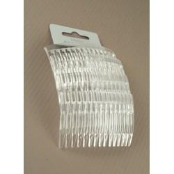 Hair Combs - A set of 4 x 7cm clear hair combs