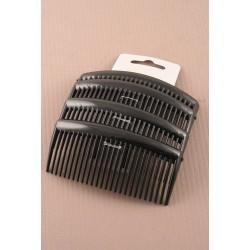 Hair Combs - A pack of 4 x 9cm black hair combs