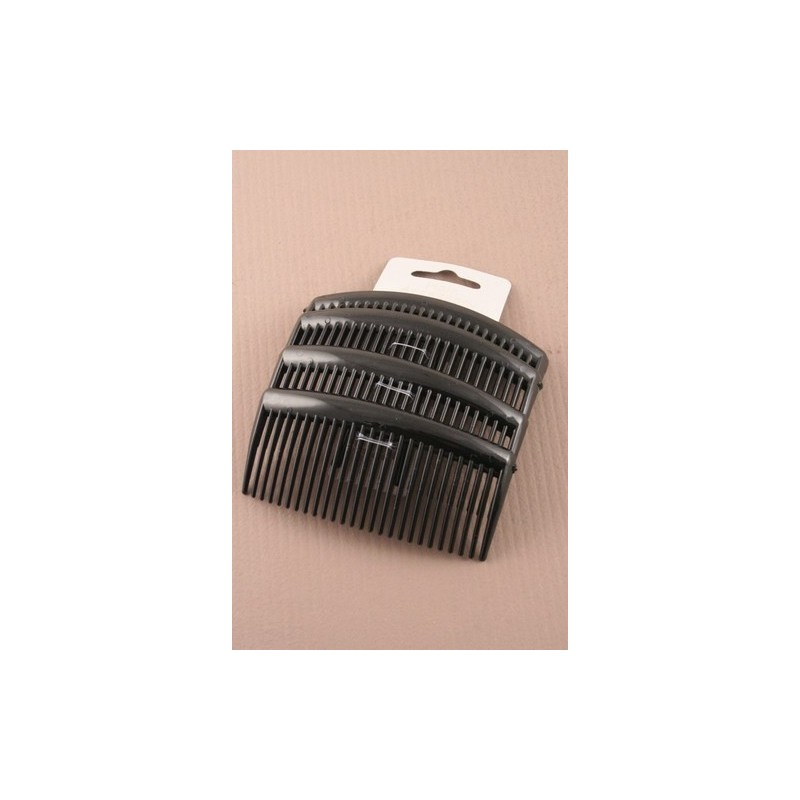 Hair Combs - A pack of 4 x 9cm black hair combs