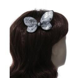 Schnabel Haarspange - Pailletten Schmetterling Bogen gespaltene Haare Griff schieben