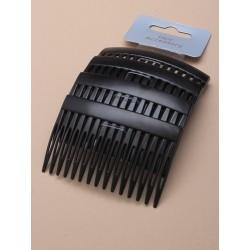 Hair Combs - A pack of 4 x 7cm matt black hair combs