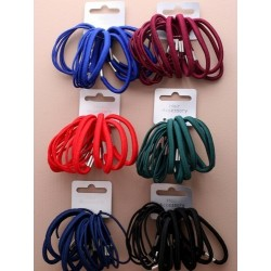 Hair Elastics - A pack of 18 school colour elastics choice of 6 colours.