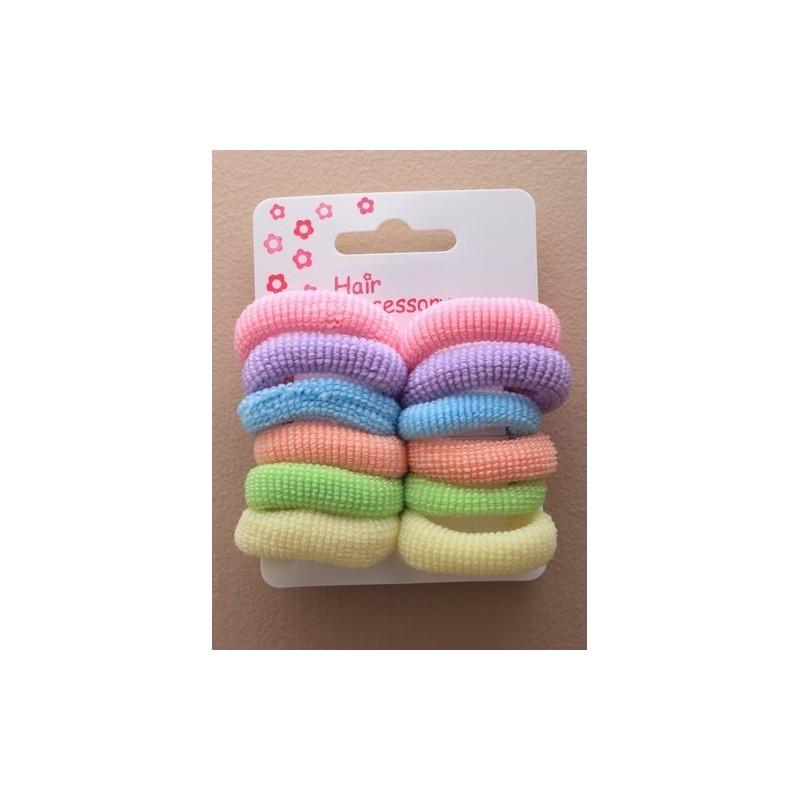 Hair Ponios - A set of 12 pastel hair ponios.