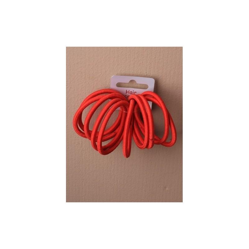Hair Elastics - A set of 10 red snag free endless elastics.