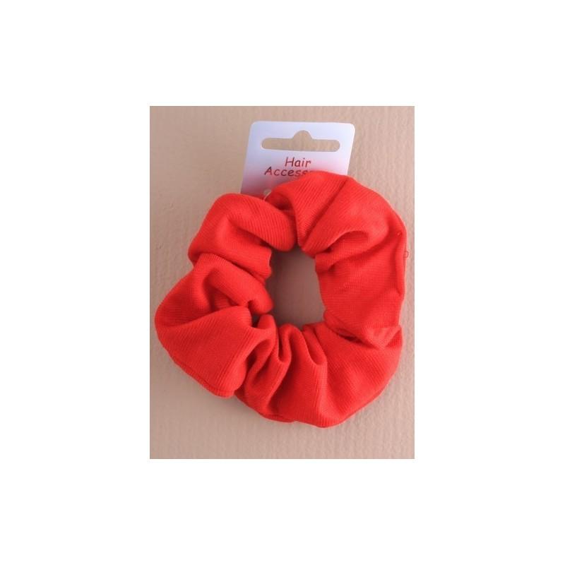 Hair Scrunchie - A bright red jersey fabric hair scrunchie.