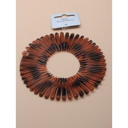 Flexi Spiral Hair Combs - A pack of 2 faux tortoise shell flexi sprial hair combs.