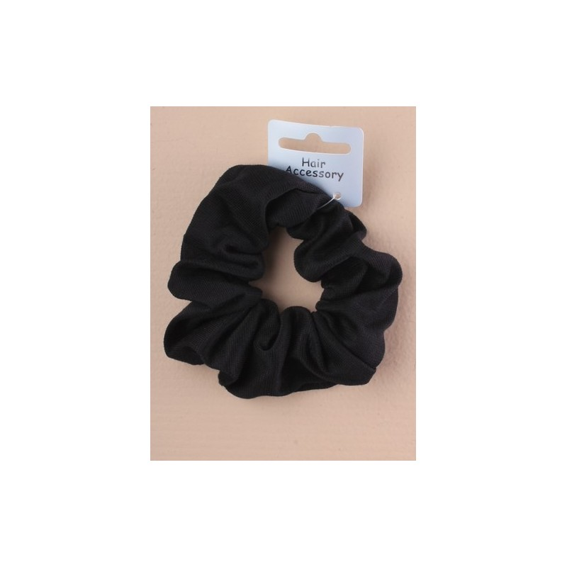 Hair Scrunchie - A black jersey fabric hair scrunchie.