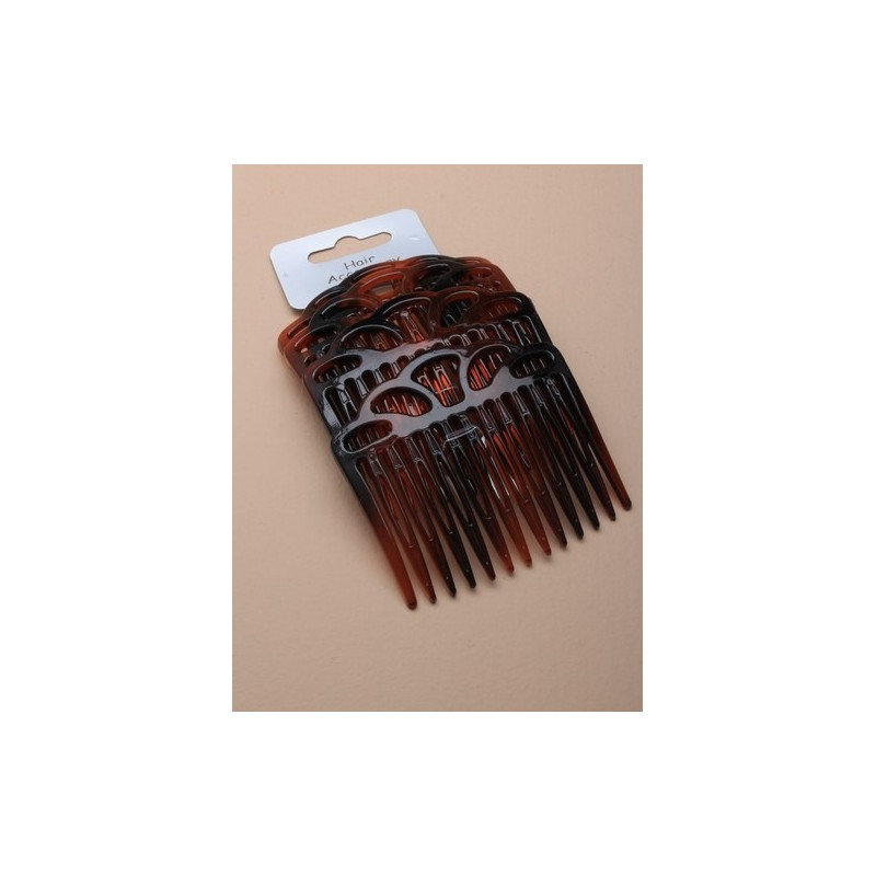 Hair Combs - A set of 4 tort 7cm open topped hair combs.