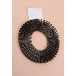 Flexi Spiral Combs - A pack of 2 black hair flexi spiral hair combs.