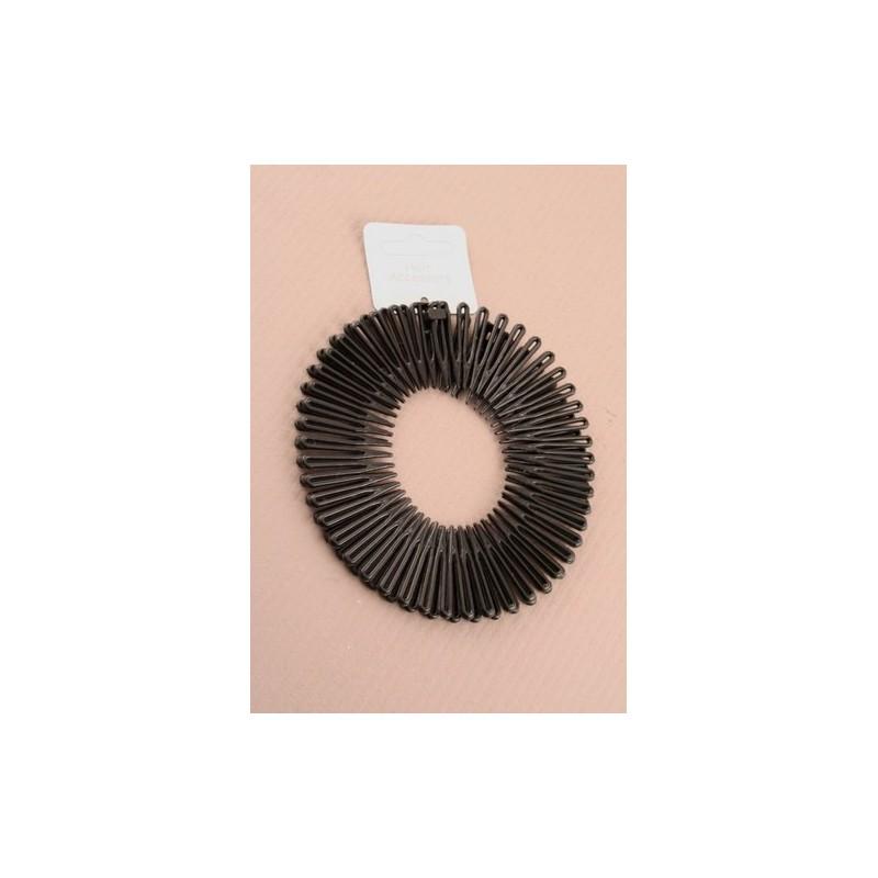 peines espiral flexi - un Pack de 2 flexi peina el pelo negro espiral.