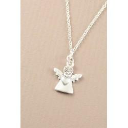 Necklace - A silver guardian angel pendant necklace