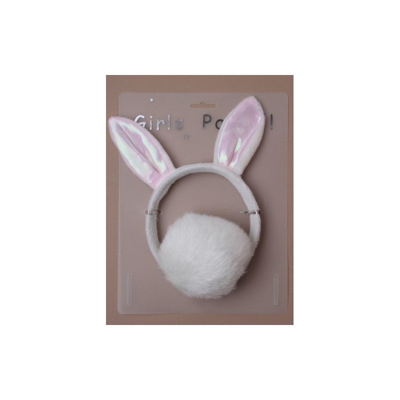 Rabbit ears alice band and tail set.