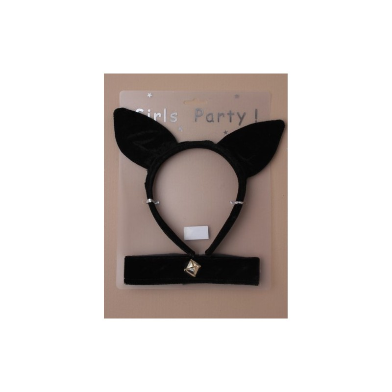 A cat alice band and collar set