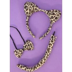 A leopard dress up set with...