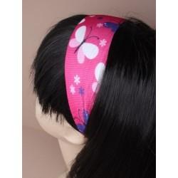 Headband - Butterfly print knitted headband