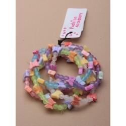 Bracelets - Set of 5 coloured butterfly beaded bracelets.