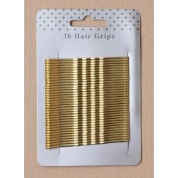 Hair Grips - 36 blonde 65mm...