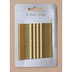 Hair Grips - 36 blonde 65mm...