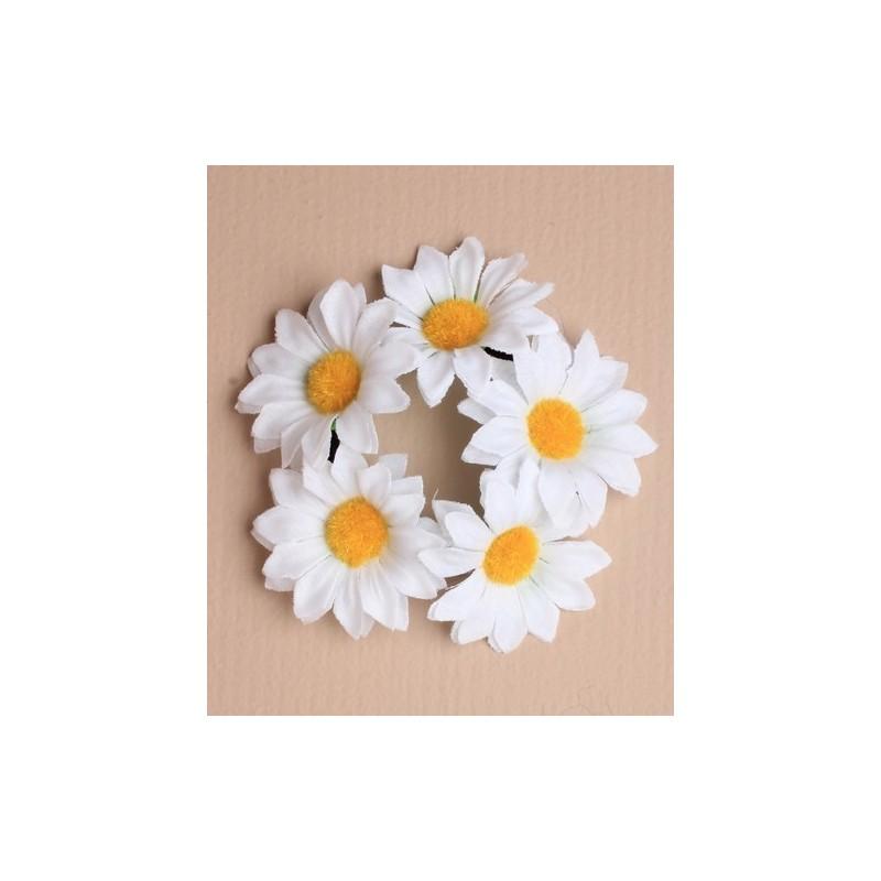 Scrunchie - Daisy bun garland hair scrunchie