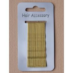 Kirby Hair Grips - 15 Blonde 65mm Hair Grip wavy hairpin...