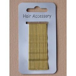 Kirby Hair Grips - 15 Blonde 65mm Hair Grip wavy hairpin slides