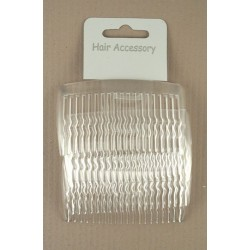 Clear 8cm hair combs - pack of 4