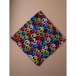 Bandanna - brightly coloured peace sign bandanna 55x55cm