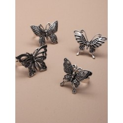 Fashion Rings - vintage silv adjustable butterfly rings available in 4 different styles.