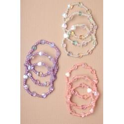 Bracelets - Set of 3 beaded heart stretch bracelets.