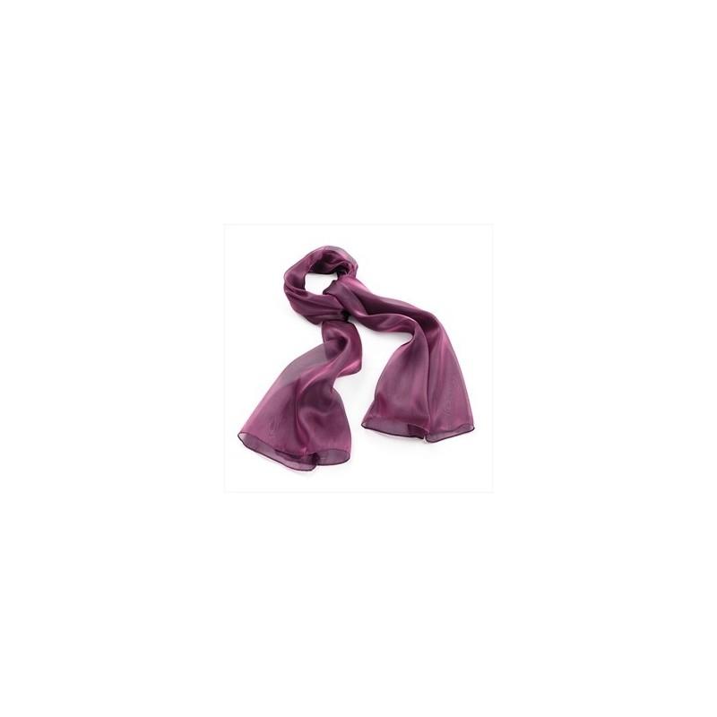 bufanda de la tarde - el color magenta aspecto metálico bufanda.