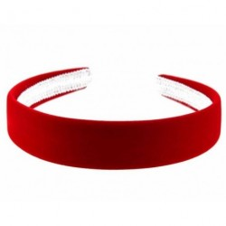 aliceband - niñas escolares de terciopelo rojo 2.5cm venda de las señoras aliceband banda de pelo