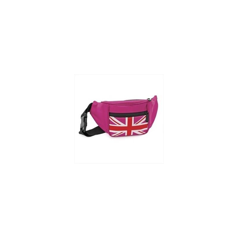 riñonera - rosa fucsia unión color de la bolsa indicador del gato vagabundo.