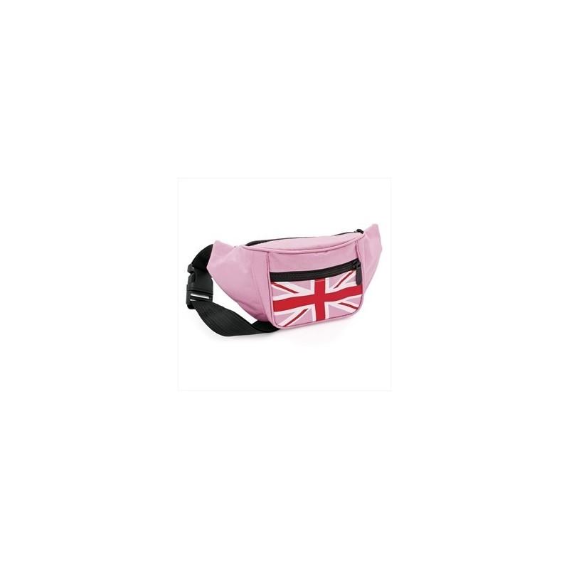 Bum Bag - Pink colour Union Jack flag bun bag.