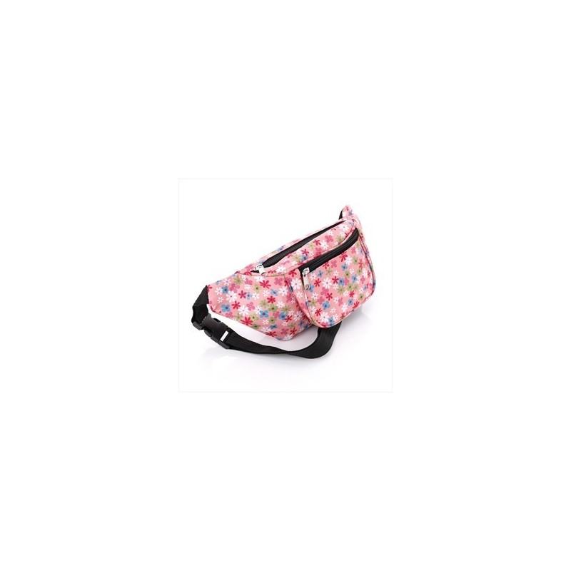Bum Bag - Pink tone flower print bum bag.