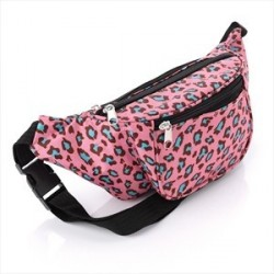 Bum Bag - Pink tone animal print festival bum bag.