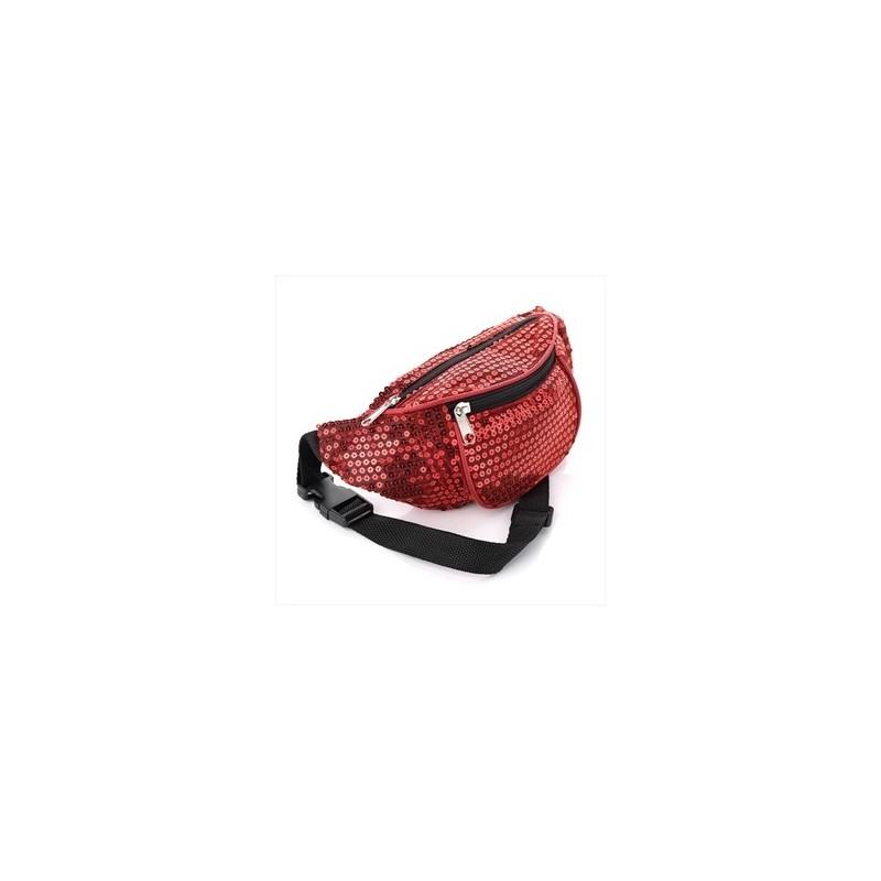 Bum Bag - Red colour sequin bum bag.