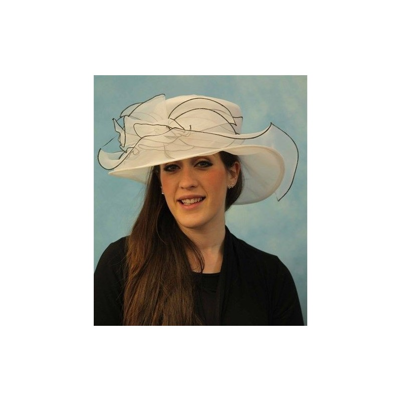 Crush-able Hat with organza bow detail in Navy Blue or Cream Wedding Parties Races