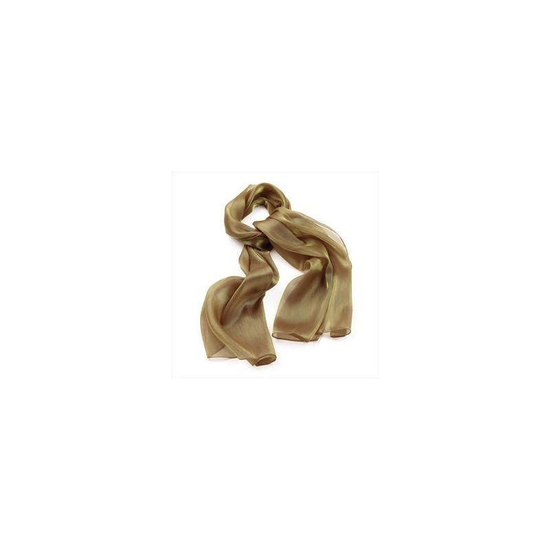 Gold colour metallic look scarf.