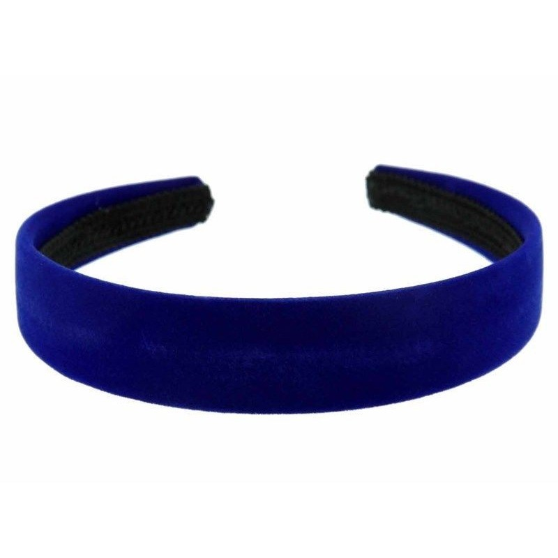 Aliceband - Royal Blue Velvet flock 2,5cm School Girls Ladies Headband Hairband Aliceband