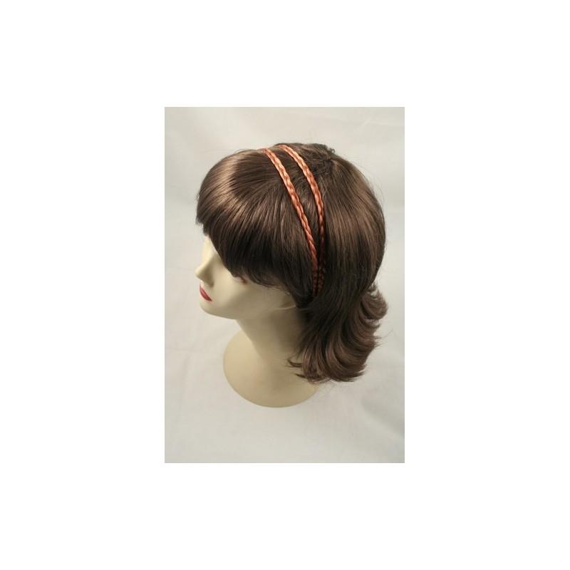 Headband - Faux hair twin plaits elasticated kylie band head band
