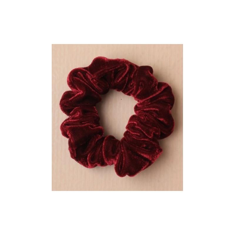 Scrunchie - burgundy velvet fabric scrunchie