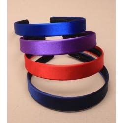 aliceband - 2 cm de ancho de color aliceband tejido satinado disponible en rojo / azul marino / azul marino o morado