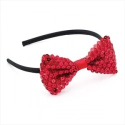 Aliceband - Red sequin bow...