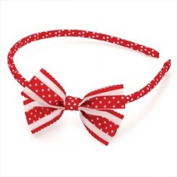 Aliceband - Red and white...